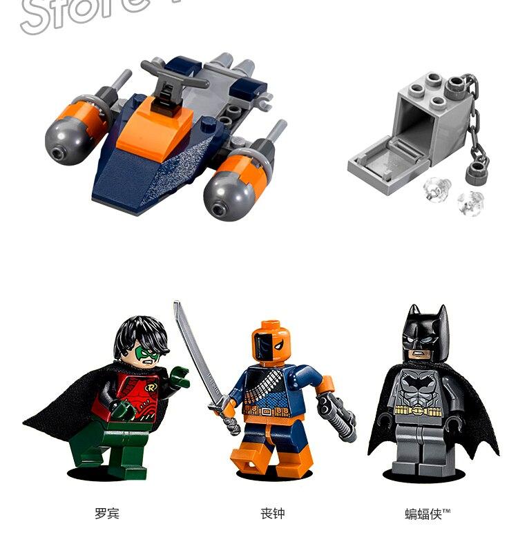 263PCS Super Heroes Batman Movie The Batboat Harbor Pursuit Assault 7113 Model Building Blocks Gifts Sets Compatible With Lego
