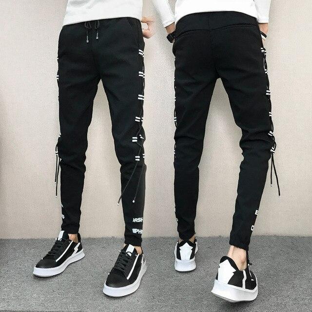 Korean Summer Men Pants Brand New Streetwear Harem Pants Men Slim Fit Hip Hop All Match Casual Trousers Men Clothes 2020 33-28 2