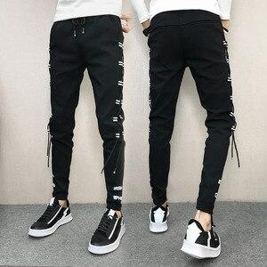 Image 2 - Pantalones coreanos de verano para hombre, ropa nueva de marca, pantalones bombachos, ajustados, Hip Hop, fáciles de combinar, informales, 2020, 33 28