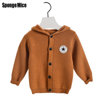 Sponge Mice Boys Sweaters 100 Cotton Sweaters Children Cardigan Knitted Coats Spring Autumn Winter Toddlers Hooded