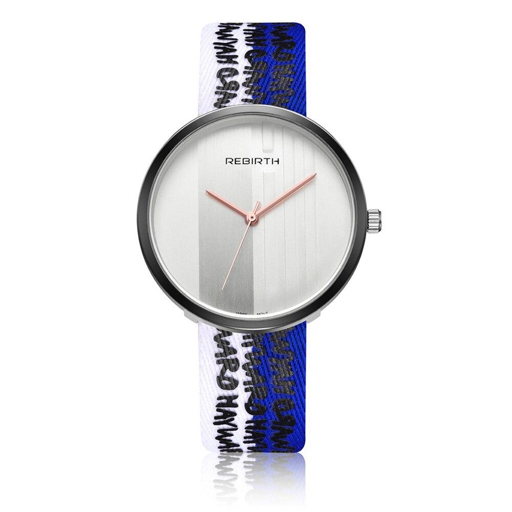 2017 Jaunā ierašanās luksusa zīmola sievietes skatīties modes krāsains neilona siksnas pulksteņi Sieviešu kleita kvarca rokas pulkstenis Relogio Feminino