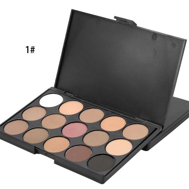 Натуральный 15 цветов длительный Перламутровые тени для век Палитры Тени для век составляют набор Профессиональный Цвета Косметика maquiagem Y6