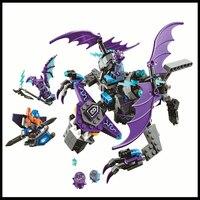 BELA 10702 335 Sztuk Nexo Knights Helikopter Kamień Magia Building Block Kompatybilne Legoe Sylwetka Zabawki Prezent Dla Dzieci