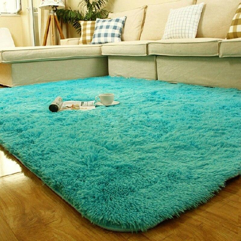 Chaude 140x200cm peluche doux tapis tapis de sol enfants tapis 2CM fourrure Shaggy tapis pour salon chambre maison tapis décoratifs - 2