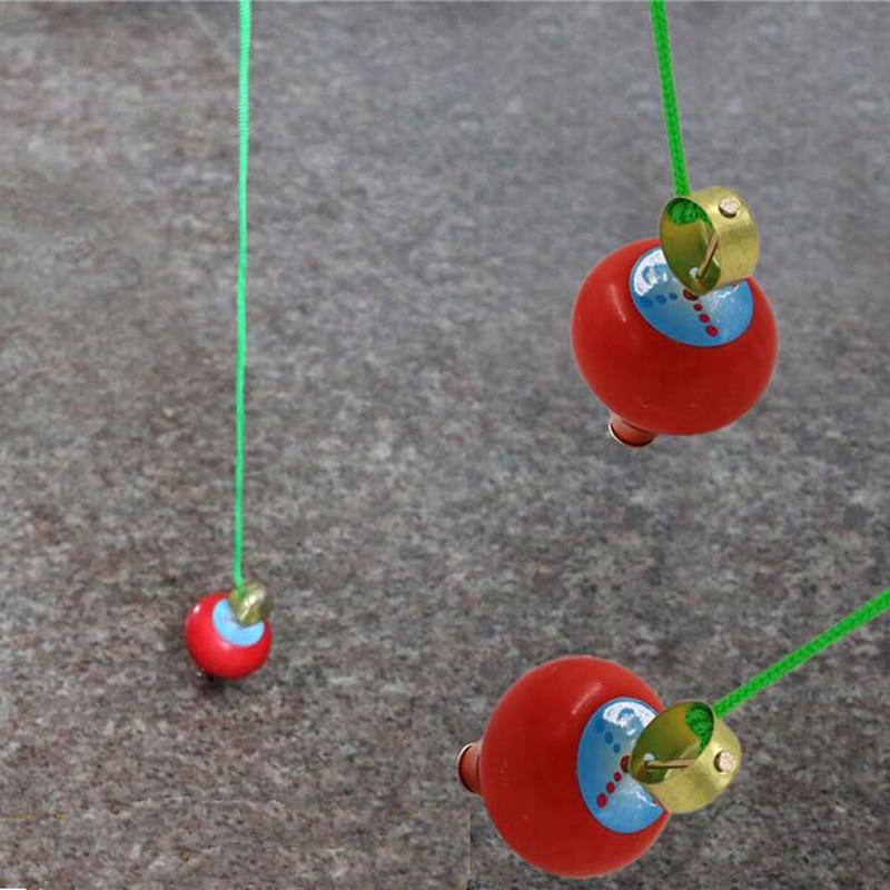 2st gratis frakt Kid Utomhus Sport Leksak tecknad trä Trä Spinning Top barn Gyro Leksaker älskling bäst present leksak