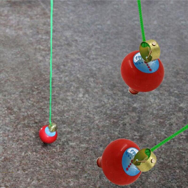 2pcs δωρεάν αποστολή Kid Υπαίθρια αθλητικά παιχνίδι κινουμένων σχεδίων ξύλινα Τραβήξτε Spinning Top παιδιά Gyro Toys μωρό καλύτερο δώρο παιχνίδι