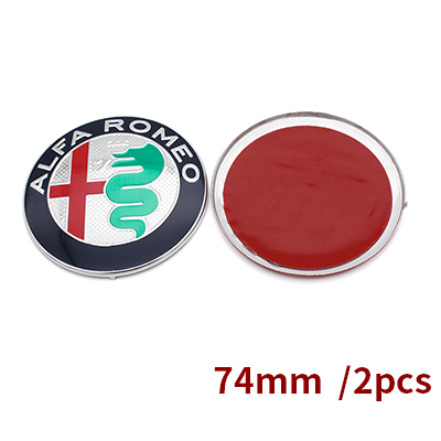 2 шт. 7,4 см ALFA ROMEO автомобилей Логотип эмблема значок наклейка для Mito 147 156 159 166 скидки черный белый Цвет 74 мм - Название цвета: Синий