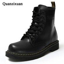 Модные ботильоны, Зимние ботильоны, женские ботинки из искусственной кожи, Рабочая обувь с круглым носком, женская обувь на шнуровке, Черная женская обувь