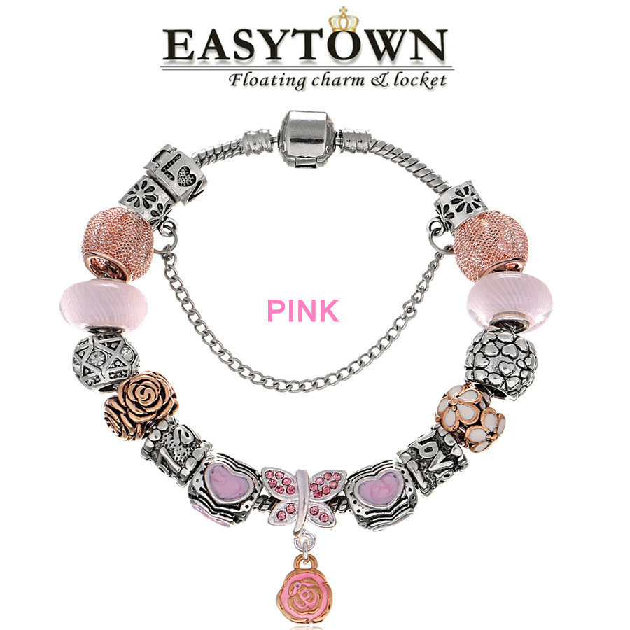 2017 Summer Style Jewelry Charm Rose Flower Beads