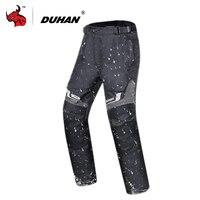 Духан мото брюки ветрозащитный Водонепроницаемый мото брюки защитный Шестерни Для мужчин осень зима Мотокросс мото брюки Pantalon черный