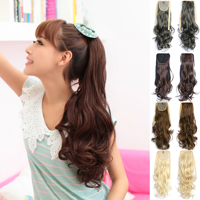 New Blonde Brown Ponytail Hair Extension Fake Hair Ponytails Curly