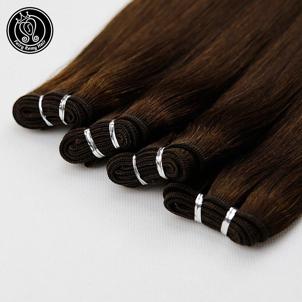 "Fee Remy Haar 100g/pc 16 ""-22"" Brazilian Gerade Haarwebart Bundles 100% Remy Menschliches Haar Bundles Dunkelbraun Haar Extensions"