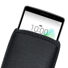 Black Soft Flexible Neoprene Protective Pouch Bag for LG G3 G4 Protect Sleeves Pouch Case For Google Nexus 5