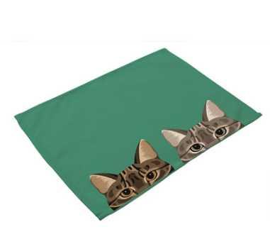 """Image 3 - CAMMITEVER 12 """"x 16"""" мультфильм кошки собаки ткань салфетка для закусочной вечерние рождественские принадлежности Свадебная столовая салфетка Хлопок Лен-in Столовые салфетки from Дом и животные"""
