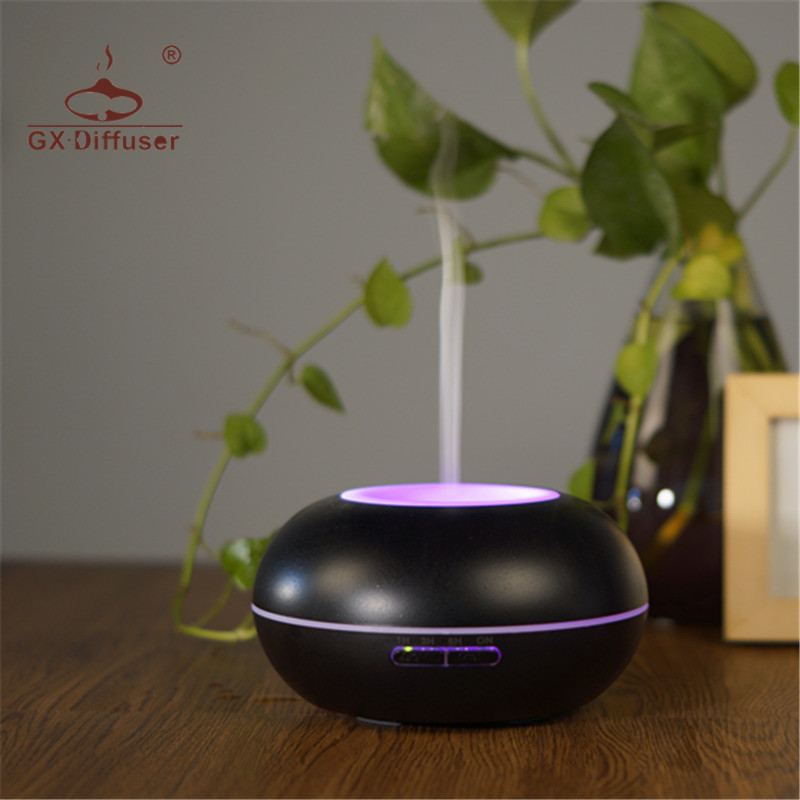 GX Diffuser 7 LED Colorful Night Light Aroma Diffuser Ultrasonic Essential Oil Aromatherapy Aroma Diffuser For