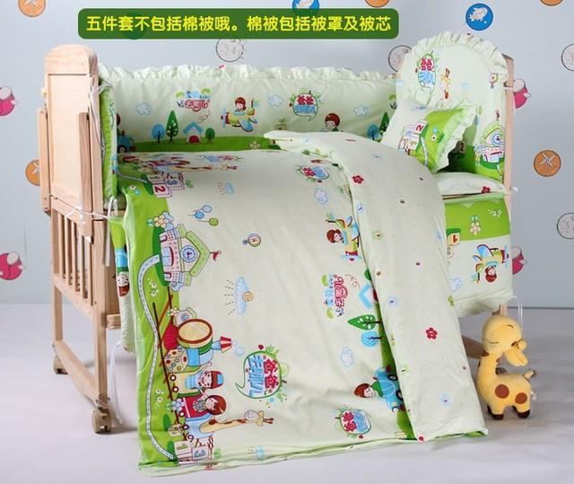 Promoção! 7 pcs berço berço jogo de cama roupa de cama de algodão berçário ( bumper + edredon + colchão + travesseiro )