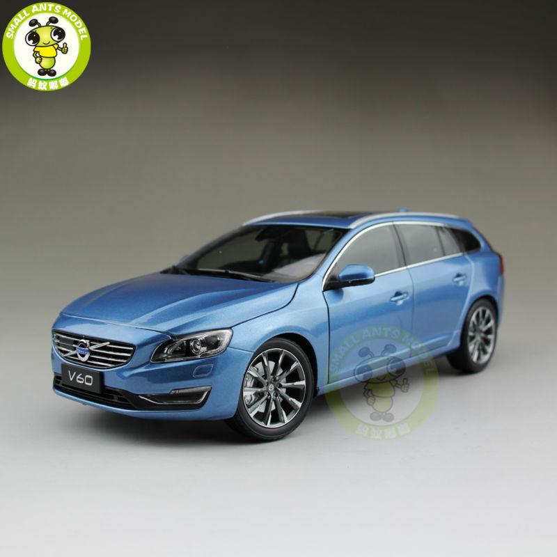 Oyuncaklar ve Hobi Ürünleri'ten Pres Döküm ve Oyuncak Araçlar'de 1/18 Volvo V60 T5 Station wagon pres döküm model araba Güç Mavi'da  Grup 1