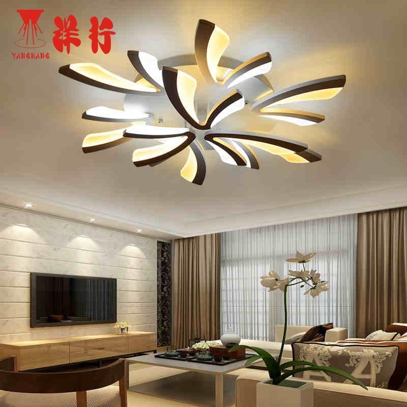 Acrylique pais moderne led plafond lumi res lustre pour - Plafonnier salle a manger ...