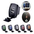 Универсальное Автомобильное Зарядное Устройство USB Зарядное Гнездо Водонепроницаемый Два Порта USB Выход DC 12 V 24 V 3.1A Для Toyota Лодка iPhone Samsung ВНЕДОРОЖНИК ATV
