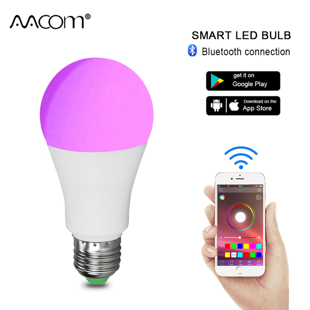 15W 20W Wireless Bluetooth Ampoule LED E27 RGBW Light Bulb 85-265V 20 Modes Magic Color Music Control Function Smart Lamp