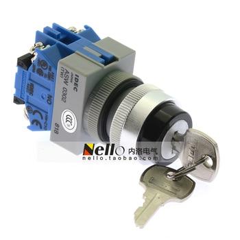 [SA]Original ! Izumi IDEC TW Series 22mm self-locking key switch 3 files ASW3K20 2 normally open--5pcs/lot