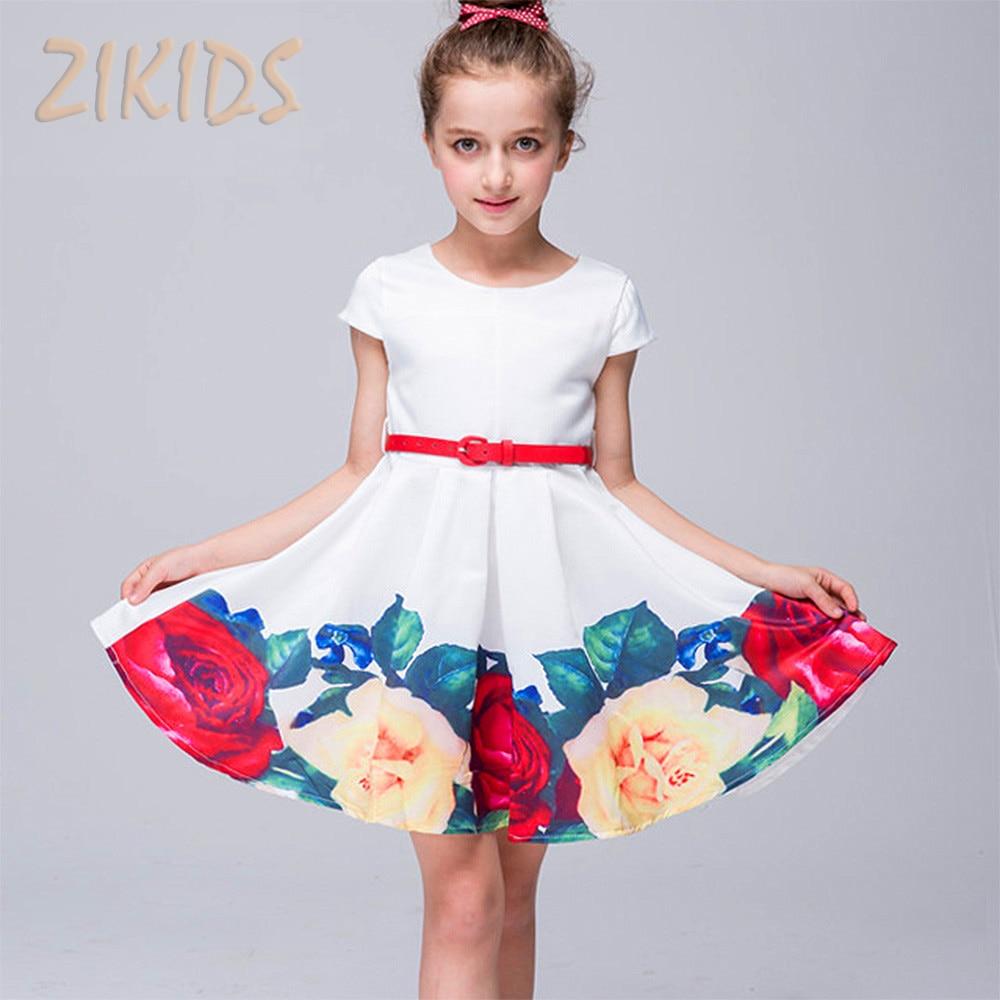 Girls Summer Dress Cute Casual Print