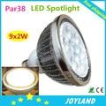 2014 Hot Good quality 9X2W Par38 LED spotlight lamp bulb E27 Dimmable 110-220v Free shipping