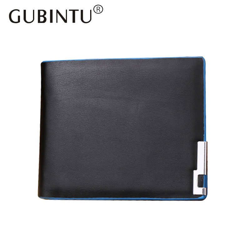 GUBINTU Simple Style Fashion Brand Man Leather Wallets Male Purse Wallet Coin Pocket Card Holder for Men new fashion gubintu removeable pocket men vintage wallets cow genuine leather wallet brand purse card holder coin purse jan 19