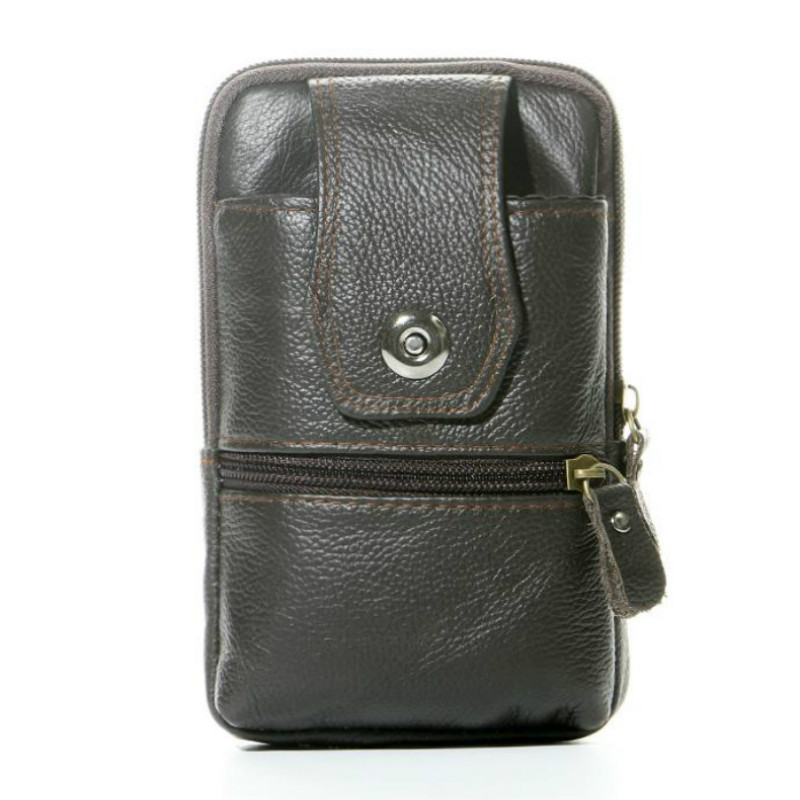 BISI GORO Genuine Leather  Belt Bag Men's New Waist Bag Fashion Fanny Packs Women Belt Bag Waist Pack Multi-function Waist Bag