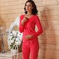 Professional 2016 Hot Vender Mulheres Conjuntos de Pijama de Flanela Outono E Inverno Pijamas de Flanela Espessamento Sleepwear