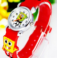 Yellow 3D Cartoon Cute1pcs Spongebob Design Slap Watch For children Kids Students Quartz Wrist Watches,