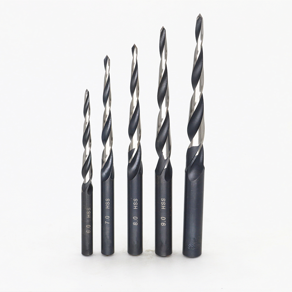 Free shipping New 5set HSS Drill Slope Taper Oblique Drill For high-speed steel mold outlet 6mm+7mm+8mm+9mm+10mm 13pcs set hss high speed steel twist drill bit for metal titanium coated drill 1 4 hex shank 1 5 6 5mm power tools par ad1038