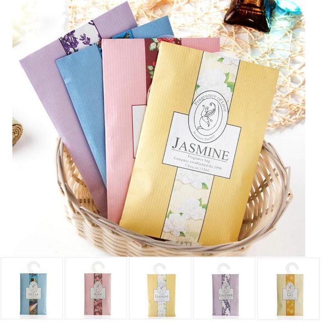 1/2Pcs Fragrant Lavender Sachet Scented Hanging Wardrobe Closet Car Odor  Mildew Insect Repellent Clothes
