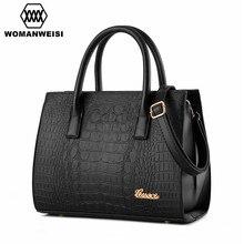 2016 Luxury Leather Classic Crocodile Grain Women Handbags Famous Brand Designer Female Shoulder Cross-body Bags Ladies Hand Bag