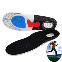 High Quality Unisex Orthotic Arch Support Breathable Sport Shoe Pad Sport Running Gel Insoles Insert Cushion Free Shipping(China)