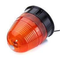 12 W Samochodów Pojazd LED Miga Lampka ostrzegawcza Beacon Awaryjne Strobe Flashing Light Amber LED Lampa Z ładowarką Samochodową IP65 DC12V-24V