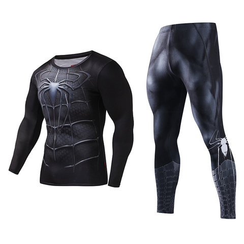 Bodysuit Skinny Men Funny T shirt 3d Plus Compression Sets Long Fitness Suits High Quality Leggings Polyester Male Crossfit Pakistan