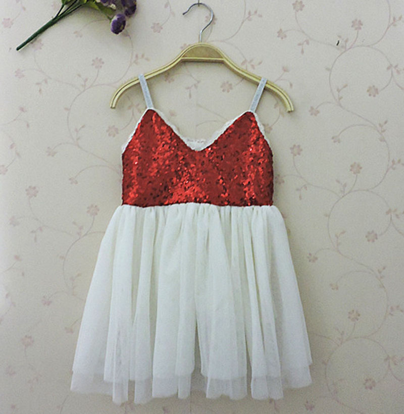 Girl Christmas Dress 2015 Baby Girls Red Dresses Sequins Toddler Clothes Princess Tutu Infant Clothing kids Costume платье для девочек baby girl clothes 2015 baby baby girls clothes