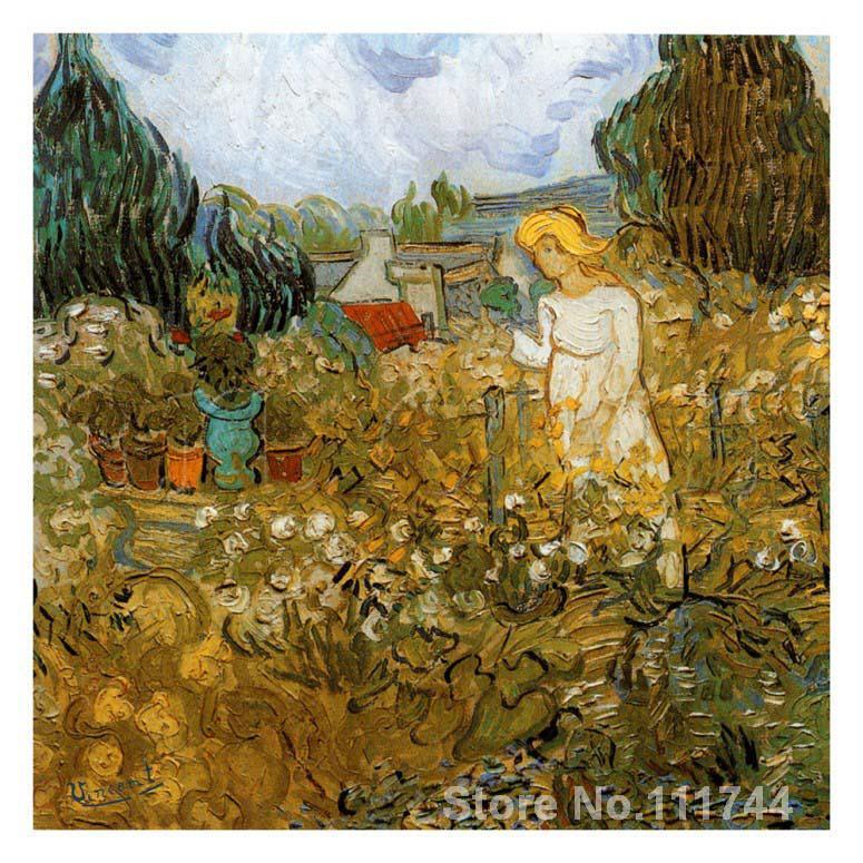 Modern art Marguerite Gachet Dans Son Jardin by Vincent Van Gogh paintings for living room Hand painted High qualityModern art Marguerite Gachet Dans Son Jardin by Vincent Van Gogh paintings for living room Hand painted High quality