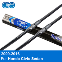 Pair Windscreen Wiper Blade For Honda Civic 2009 2016 Windshield Silicone Windshield Glass Rubber Wipers Refill