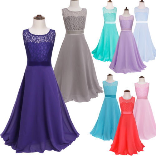 10 Color Teenager Girls Party Dress Homecoming Graduation Long Dresses for Girls Princess Ruffles Wedding Flower Girl Dress B Платье