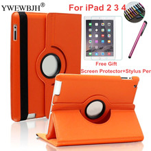 YEWEBJH Case for iPad 2 3 4 Magnetic Auto Wake Up Sleep Flip PU Leather Case Cover With Smart Stand Holder for iPad 2 3 4