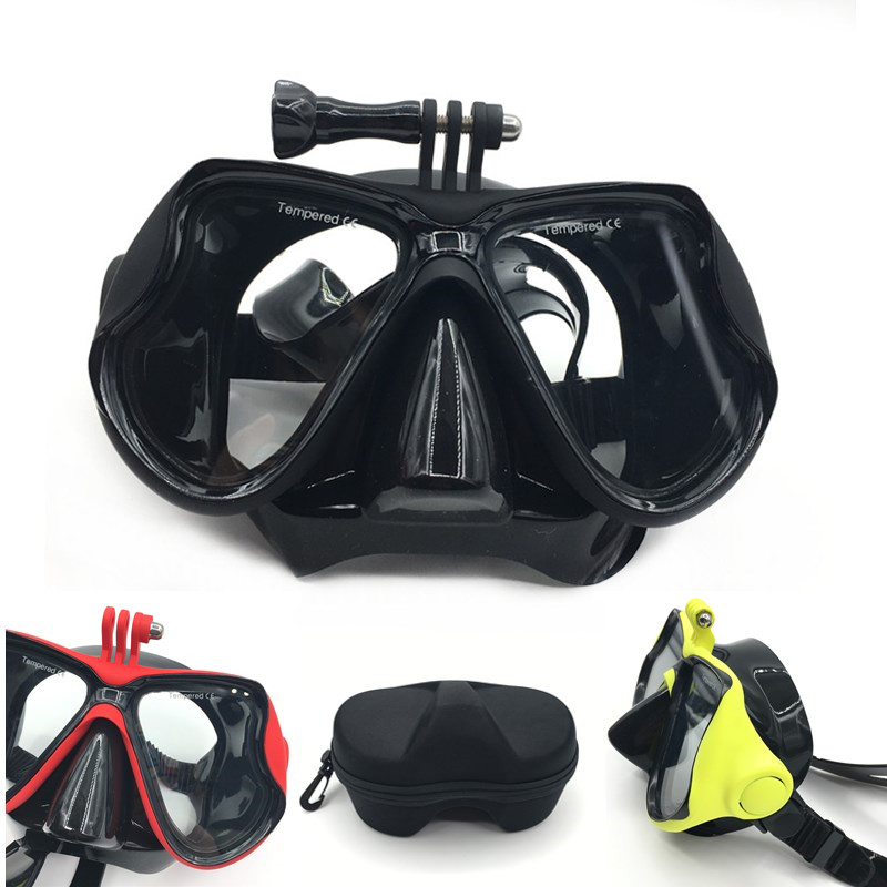 все цены на 2018 new Underwater Scuba Anti Fog Mask Snorkeling Set Respiratory masks Safe and waterproof For Gopro Accessories онлайн