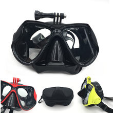 2018 new Underwater Scuba Anti Fog Mask Snorkeling Set Respiratory masks Safe and waterproof For Gopro Accessories(China)