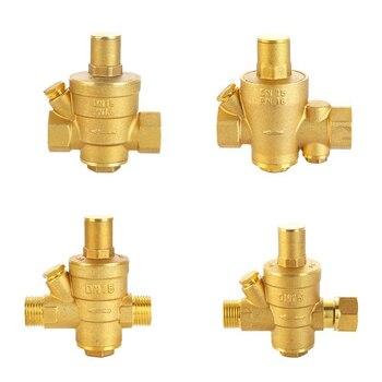 Válvula reductora de presión de latón DN15, regulador de válvulas de alivio ajustable Mayitr con medidor de calibre