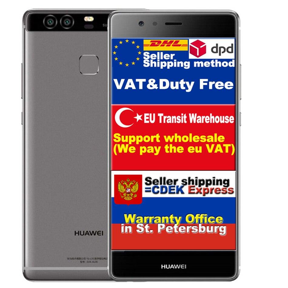 Original Huawei P9 EVA-DL00 Kirin 955 2.5GHz Octa Core 3G RAM 32G ROM 5.2 inch 1920x1080 Pixes 12M Cam 3000mAH Battery inside