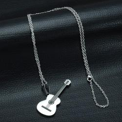 Мужские и женские подвески для рок-гитары, ожерелье из нержавеющей стали, ювелирные изделия, подвески для музыкантов, модные ожерелья, чокер...