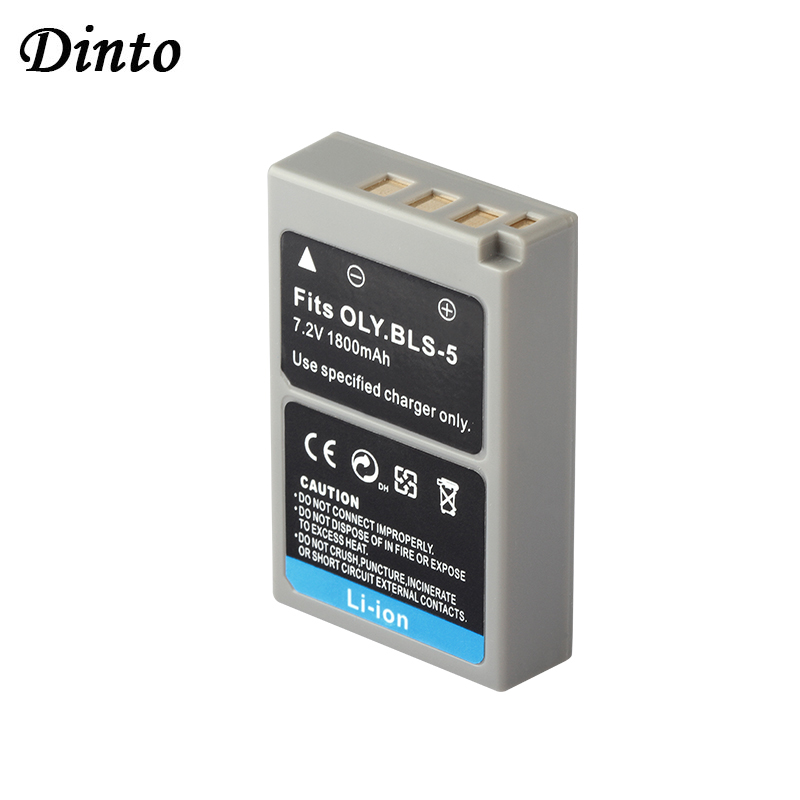 Dinto 1 шт. 1800 мАч PS-BLS5 BLS-5 BLS5 BLS-50 литий-ионный аккумулятор для камеры Olympus E-P1 E-P2 E-P3 E-PL1 E-PL2 PS BLS5 BLS50