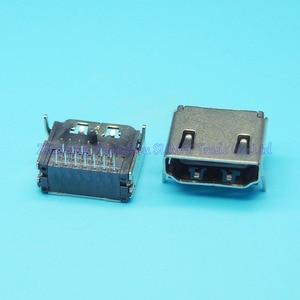Livraison gratuite 100 pcs/lot prise HDMI femelle HDMI Interface19P A Type SMT 19 P HD prise de transmission