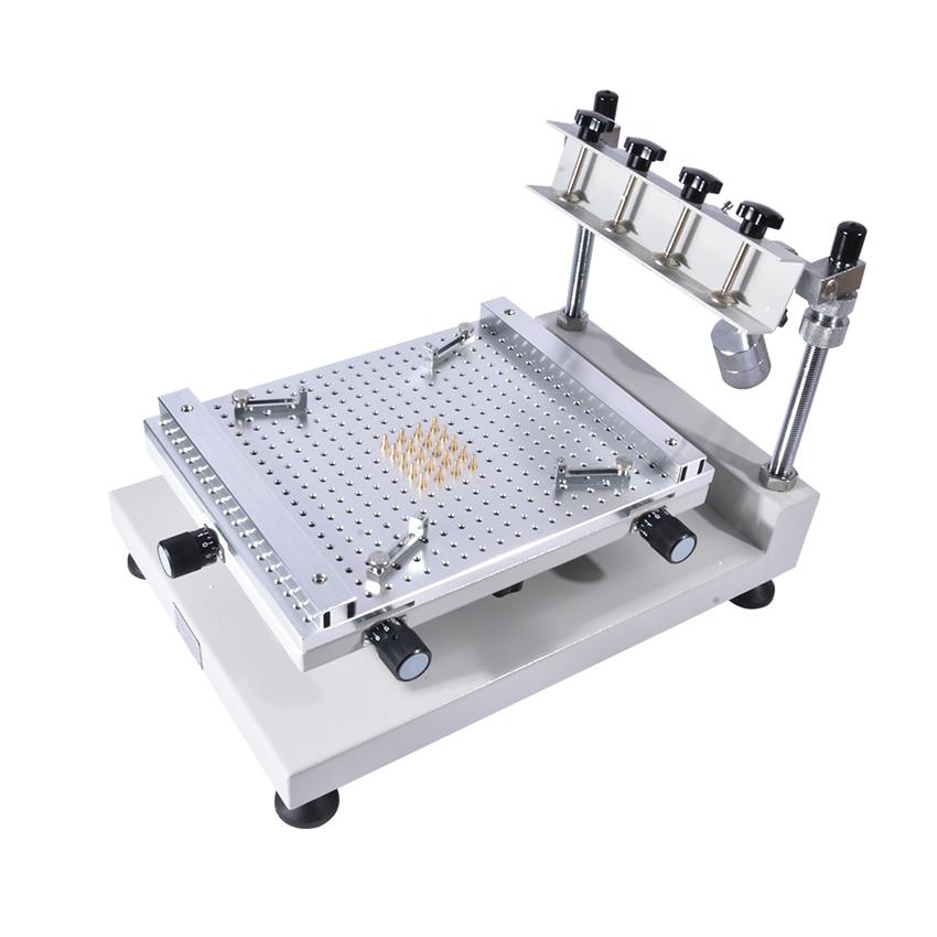 1PC High precision screen printing machines Solder paste SMT printing manual printing and screen printing machine